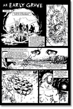 Early grave comic page